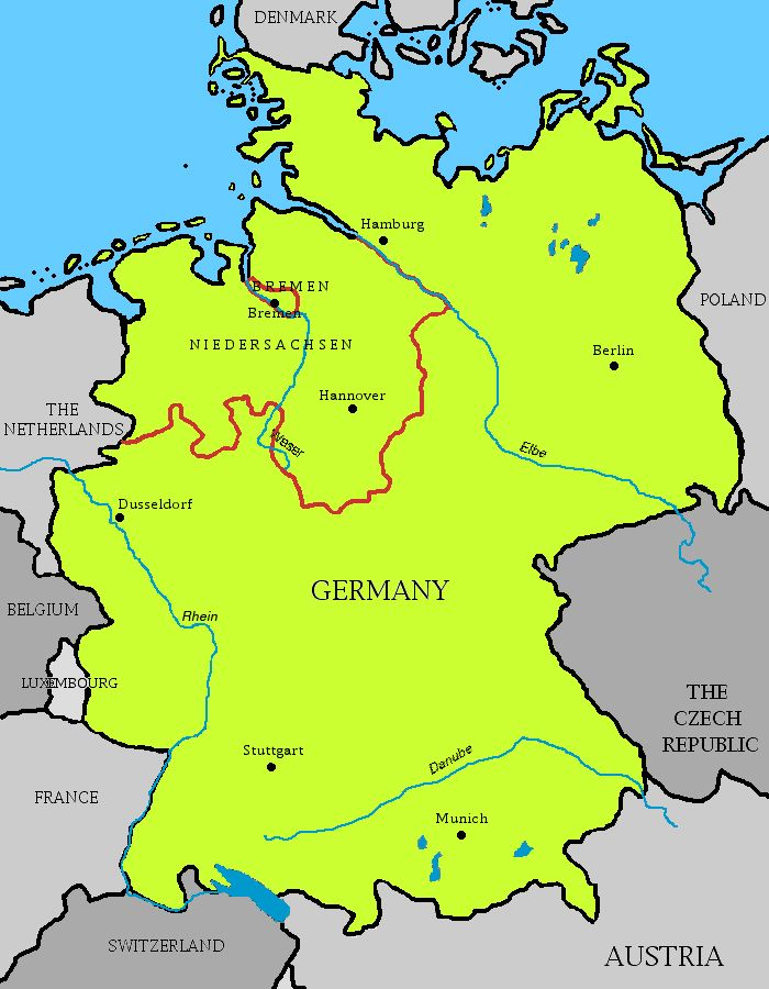 Germany - Germany map bremen